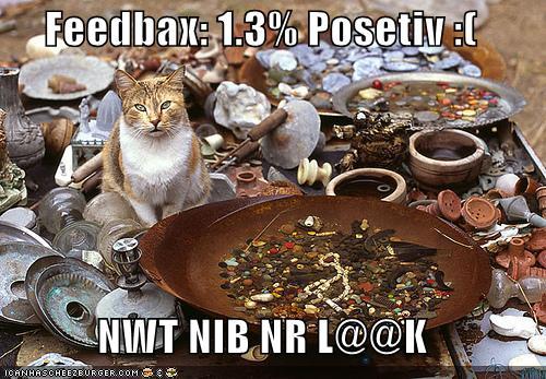 Feedbax: 1.3% Posetiv :[ NWT NIB NR L@@K