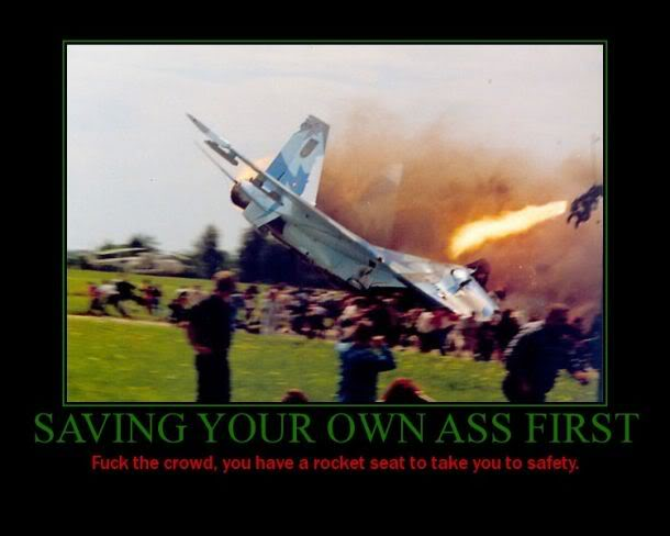 Saving Your Own Ass First