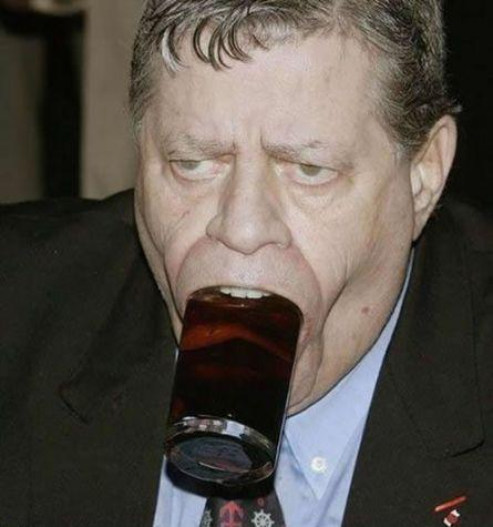Jerry Lewis Deepthroating a Glass
