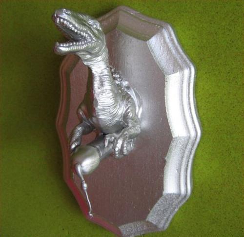 Mounted Dinosaur Figurine with Large Penis