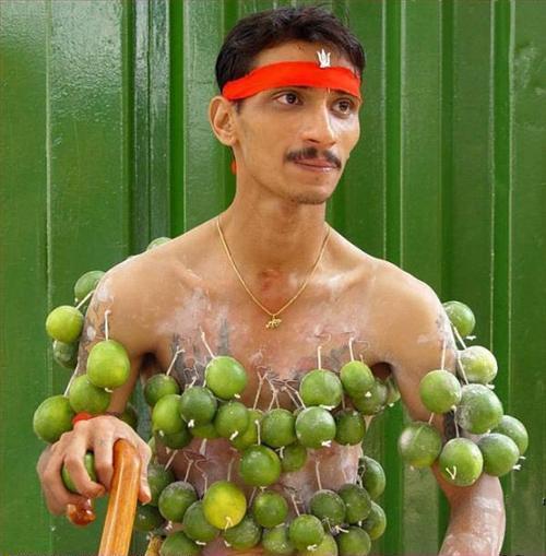 Man With Big Green Balls