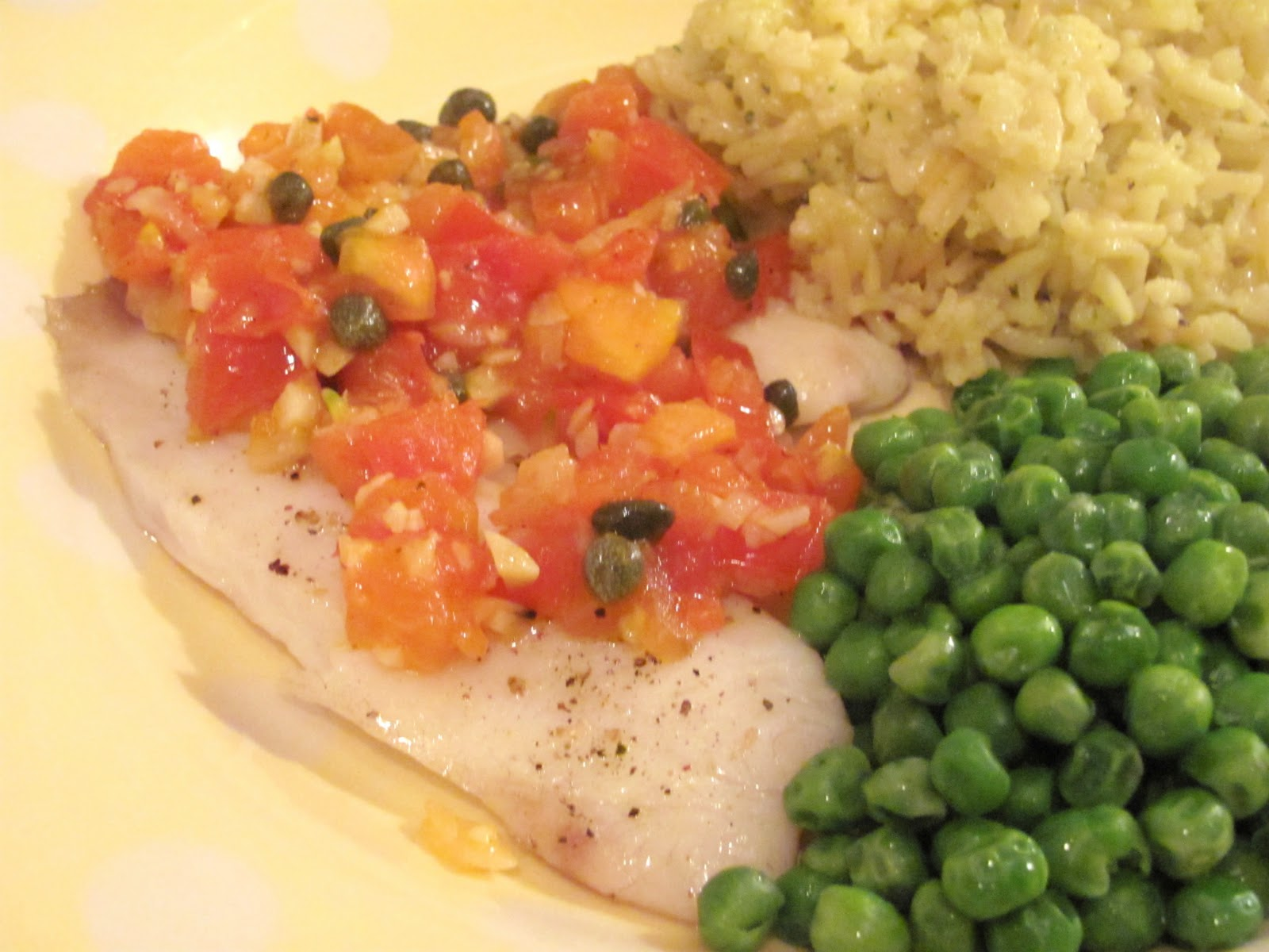 The Girly Girl Cooks: Tilapia with Tomato-Caper Sauce