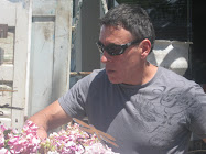 Mark helping the flowers in Petaluma