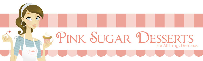 Pink Sugar Desserts Blog Design