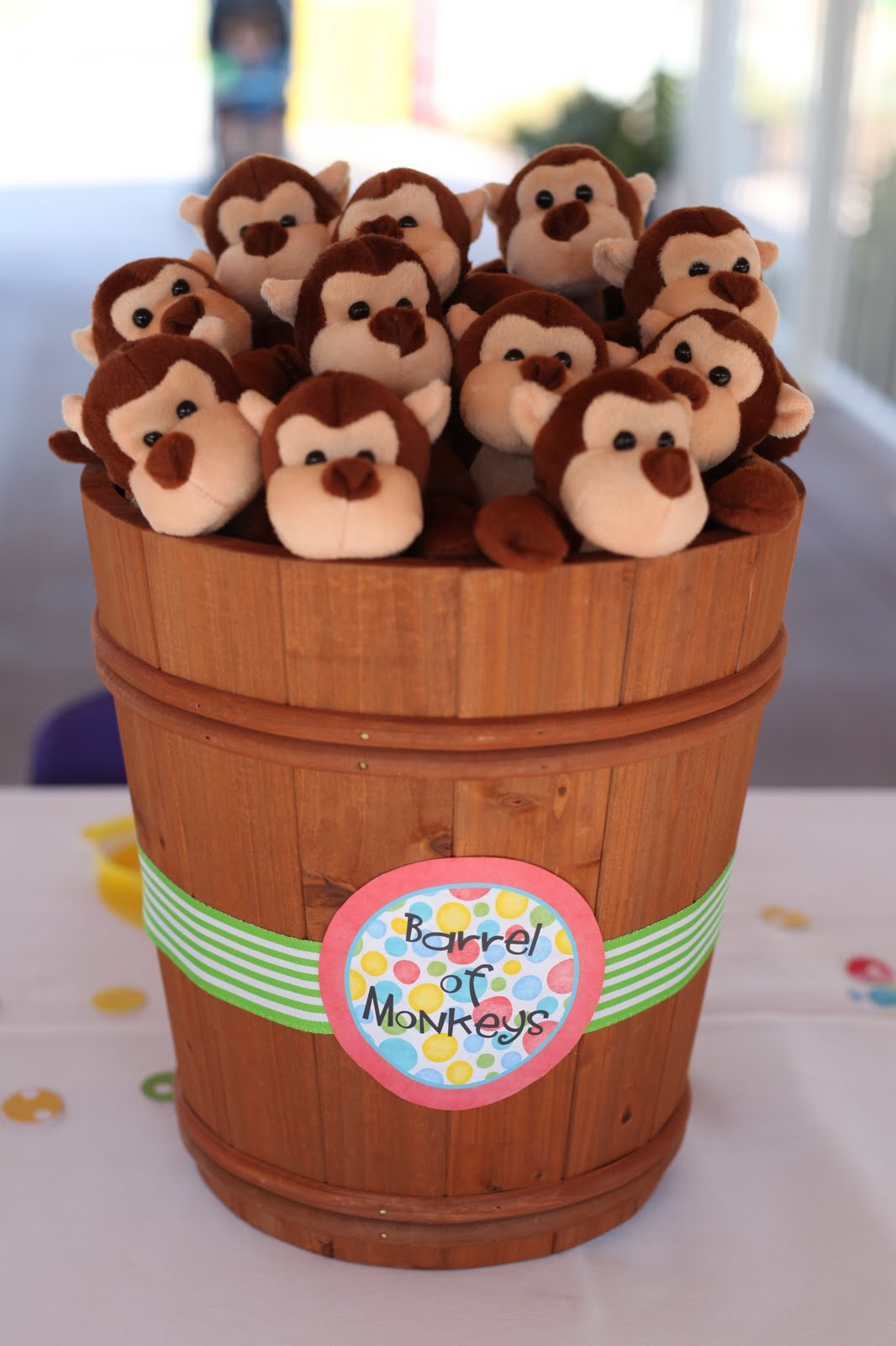 The laws of my life monkey see monkey do - Monkey baby shower favors ideas ...