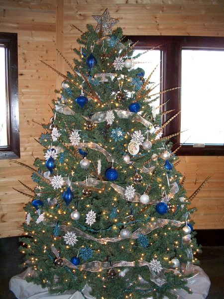 The laws of my life winter one derland - Blue themed christmas tree ...