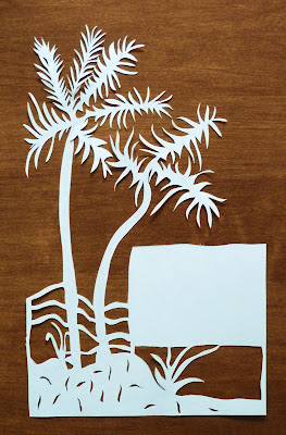 Palm Trees Paper Cutting Stationery