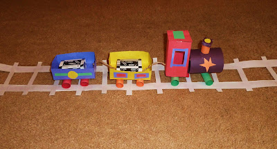 Construction Paper Train Set