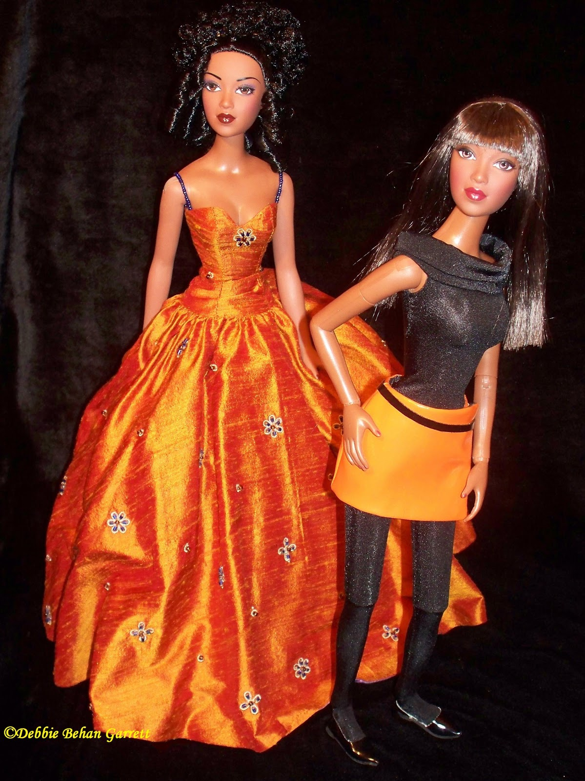 Black Doll Collecting Inspired By The Color Orange