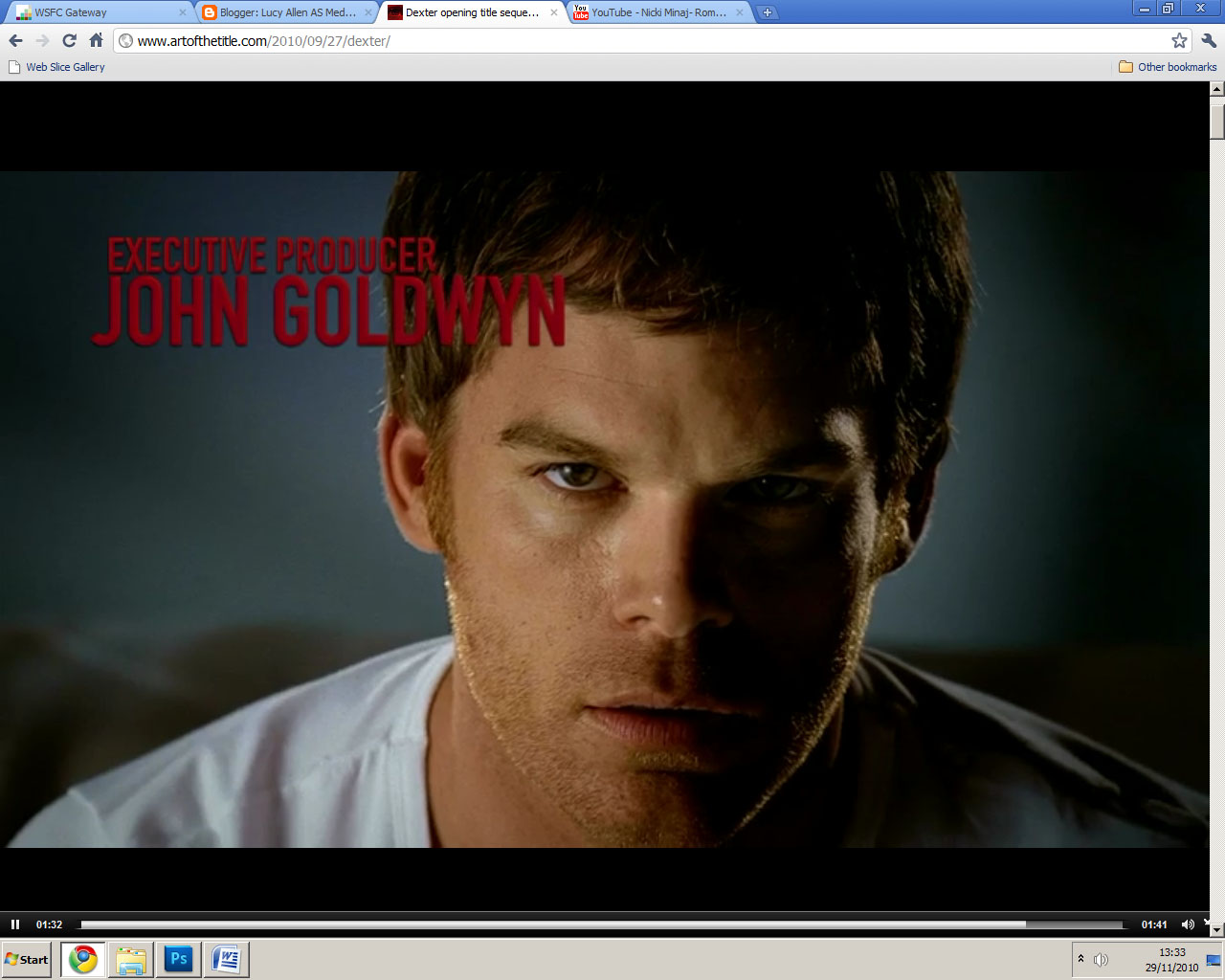 dexter opening sequence Case study 2 – dexter  this opening sequence is inspirational to me as it shows the importance of context in understanding a title sequence,.