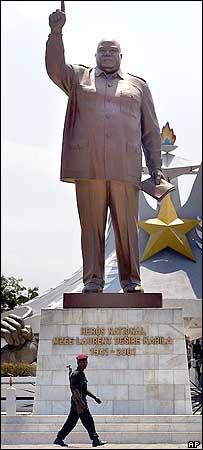 Los pueblos africanos requieren a Corea Popular para que les construyan sus monumentos Laurent-kabila