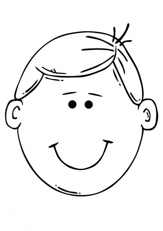 human head coloring pages - photo#13