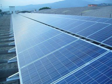 cornice in alluminio per pannelli fotovoltaici