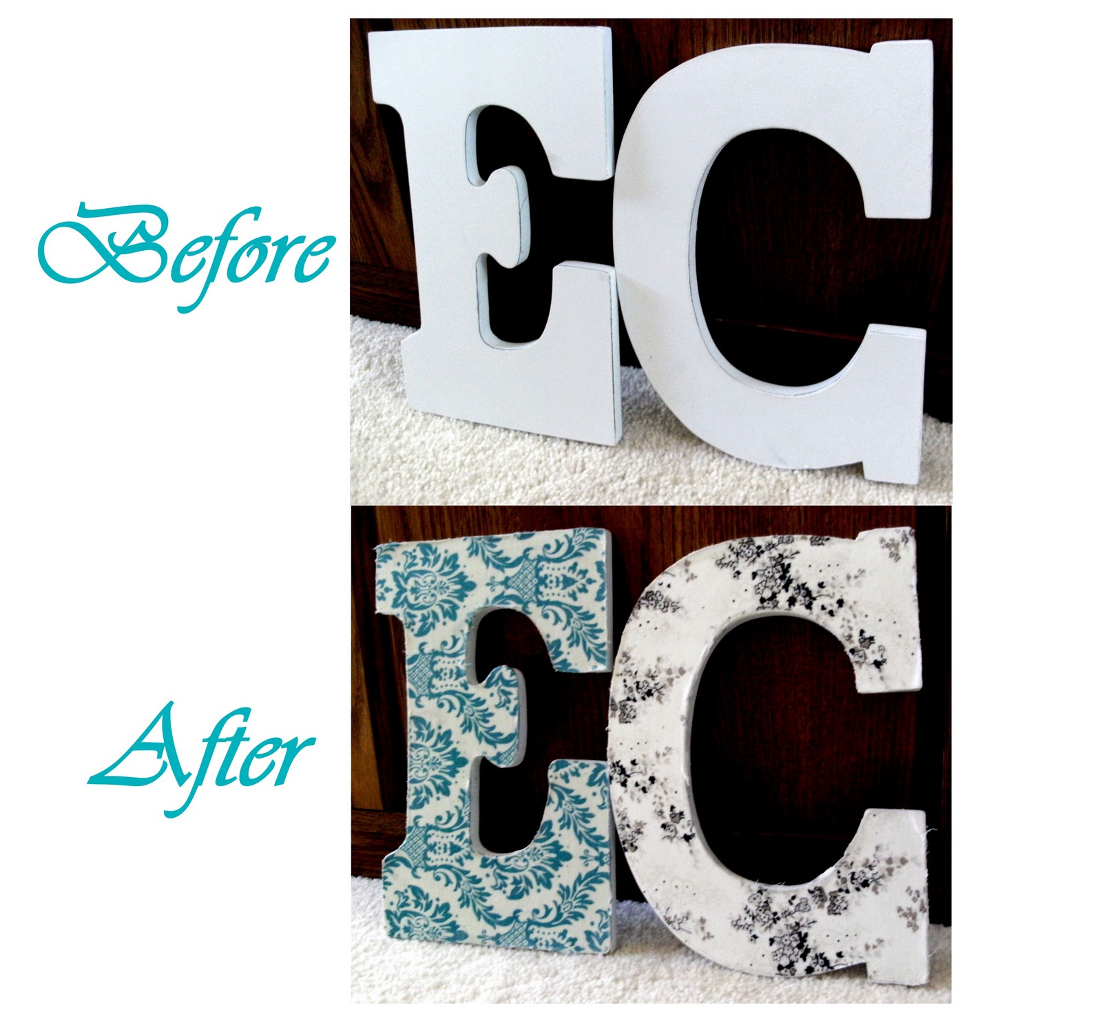 Creative juices decor letter d cor five ways to glam up for S letter decoration