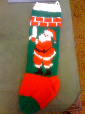 Knitting Pattern For Christmas Stocking Free : Knit christmas stocking patterns free