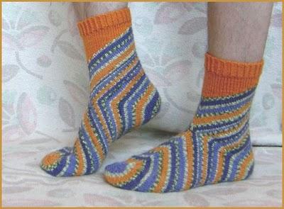 связать носки спицами
