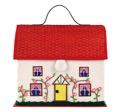 sewing basket shaped like a house
