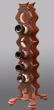 wine rack tower holds 6 bottles