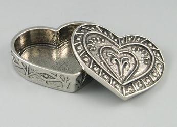 pewter heart-shaped box