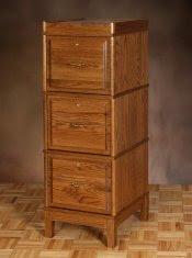3-drawer wood file cabinet