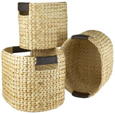 3 round baskets