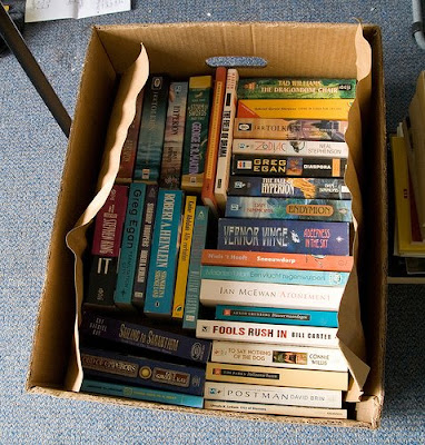 books in box