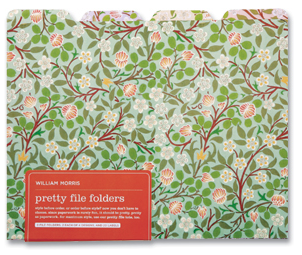 file folder with clover design
