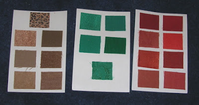 fabric swatches for selecting clothes colors