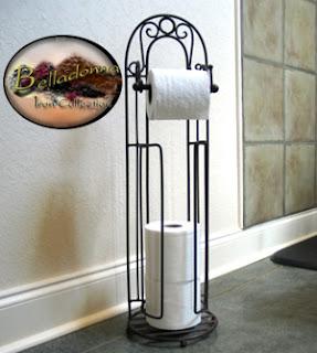 Belladonna iron toilet tissue stand