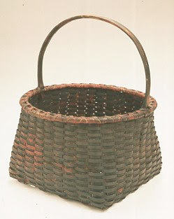 painted black ash basket by Jonathan Kline