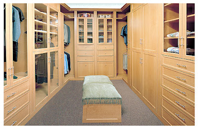 Valet Organizers deluxe walk-in closet