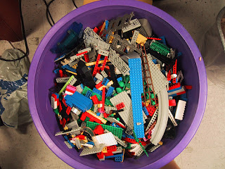 LEGOs in a bucket