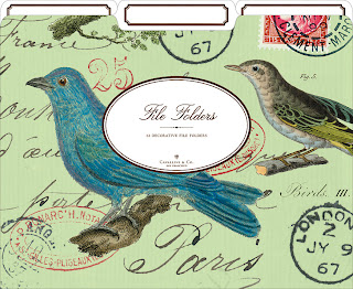 blue bird file folder