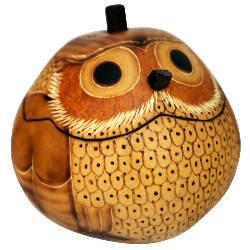 gourd box shaped like an owl