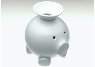 piggy bank with funnel for coins