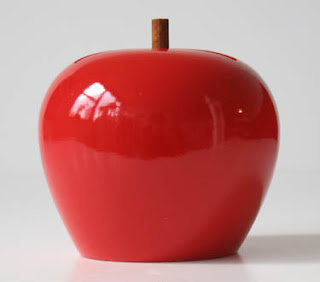 apple fruit shaped bank