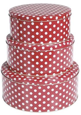 polka dot nesting tins