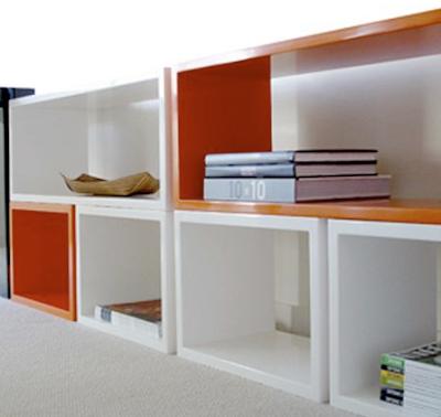 lacquer modular shelves