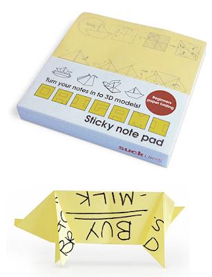 origami sticky notes