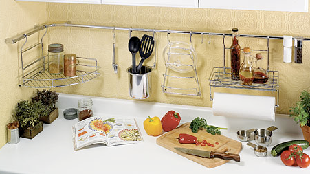 Kitchen Wall Suction Cup Organizer