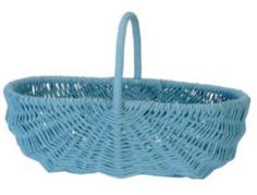 blue wicker basket