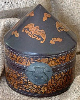 Chinese hat box