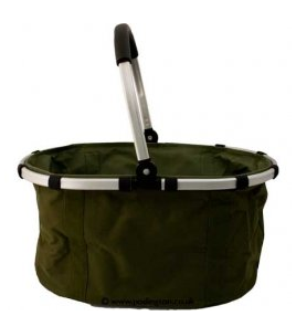 carry mate - aluminum frame and handle, polyester fabric basket