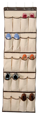 overdoor shoe organizer pockets