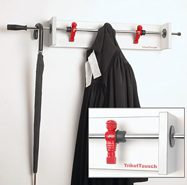 table football (foosball) coat hook