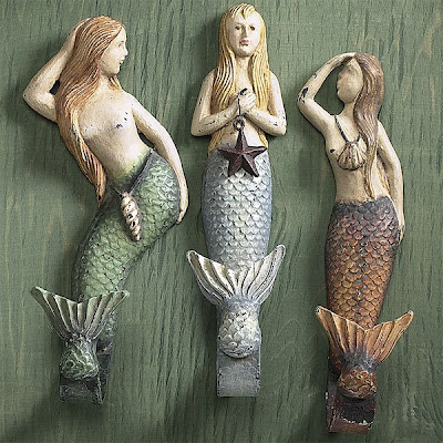 three mermaid hooks
