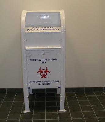 pharmaceutical disposal box at police station