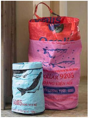wastebasket and laundry bag