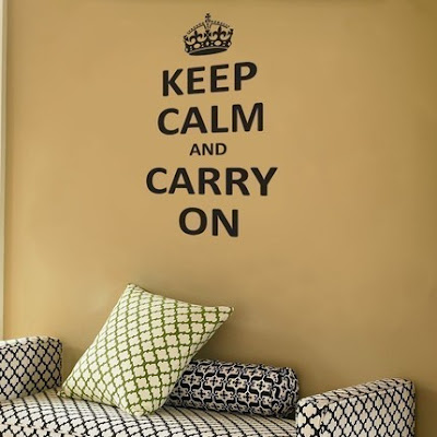 Keep Calm and Carry On wall decals