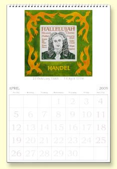 Handel calendar page